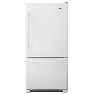 33-inch Wide Bottom-Freezer Refrigerator with EasyFreezer Pull-Out Drawer - 22 cu. ft. Capacity - White - WHITE