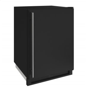 "U-LINE1000 Series 24"" Convertible Freezer With Black Solid Finish and Field Reversible Door Swing (115 Volts / 60 Hz)"