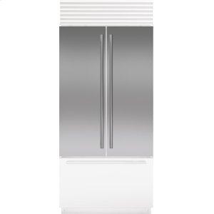 SubzeroStainless Steel Flush Inset Door Panel with Tubular Handle