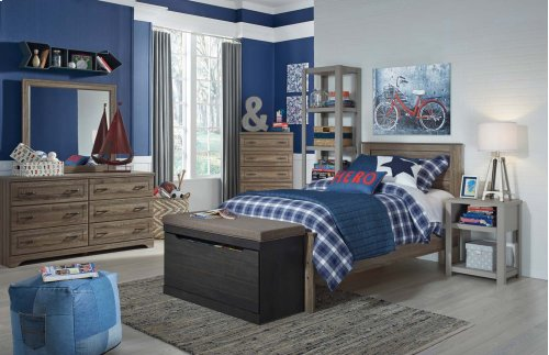 Javarin - Grayish Brown 3 Piece Bed Set (Twin)