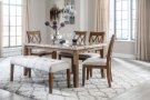 6 Piece Dining Room Set - Table, 4 Upholstered Chairs & Bench Product Image