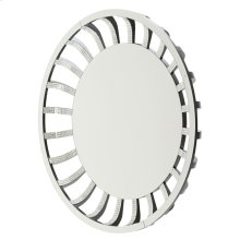 Round Wall Mirror W/crystal and Glass Sunburst