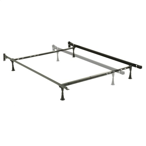 Adjustable Bed Frame 634 with Fixed Headboard Brackets and (4) Glide Legs, Twin - Full