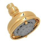 "RohlItalian Brass 4"" Santena Multi-Function Showerhead"