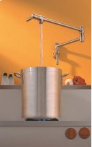 Satin Nickel Finish Pot Filler Cover in Polished Chrome Product Image