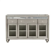 Silver Luxe Mirror Trim Sideboard
