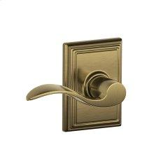 Accent Lever with Addison trim Hall & Closet Lock - Antique Brass
