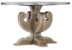 Dining Room Boheme Ascension 48in Zinc Round Dining Table