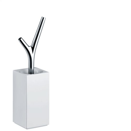 Chrome Toilet brush holder floor-standing