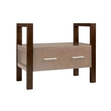 "Rowena 33 11/16"" Tall Wood Console Vanity Stand for Rowena Drawers - Legs Only"
