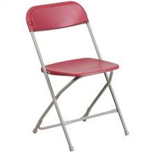 650 lb. Capacity Premium Red Plastic Folding Chair