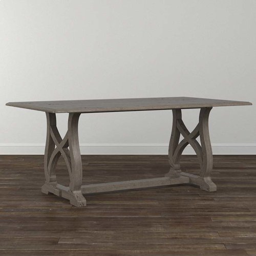 "Custom Dining 79"" Table with Metal Base"