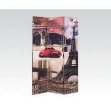 Paris Scenery Wooden Screen