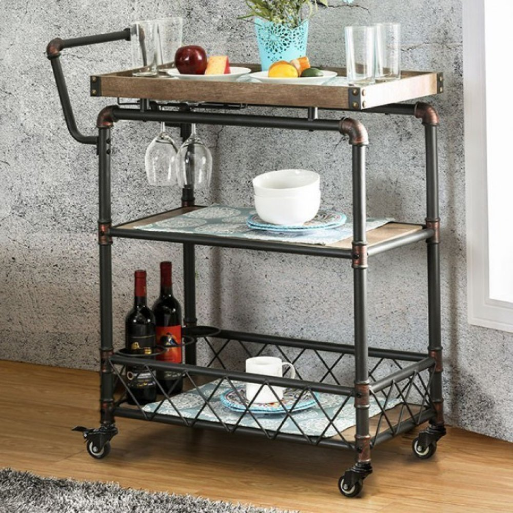 Keervan Wine Cabinet W/ Foldable Table