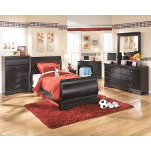 Huey Vineyard - Black 3 Piece Bed Set (Twin)