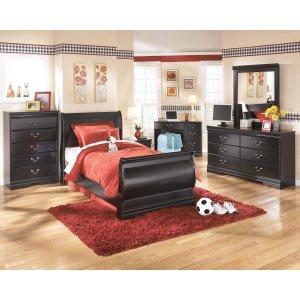 Ashley Furniture Huey Vineyard - Black 6 Piece Bedroom Set