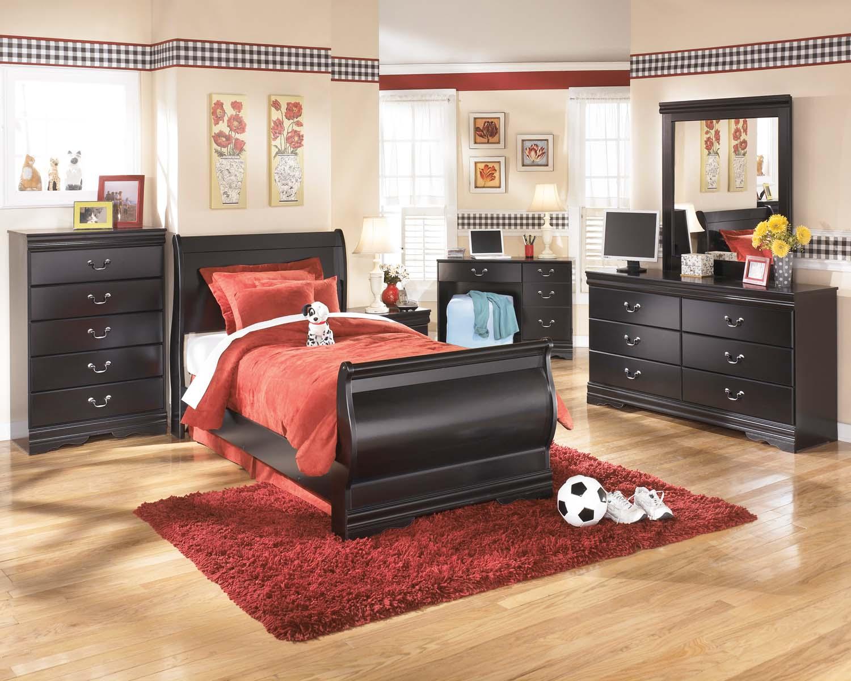 Hidden · Additional Huey Vineyard   Black 2 Piece Bedroom Set