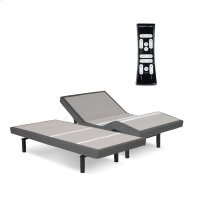 S-Cape 2.0 Adjustable Bed Base with Wallhugger Technology and Full Body Massage, Charcoal Gray Finish, Split King Product Image