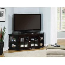 Casual Espresso Corner TV Console