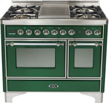 "Emerald Green 40"" Griddle Top Majestic Techno Dual Fuel Range"