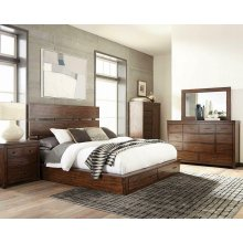 Artesia Industrial Dark Cocoa Eastern King Bed