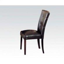 Walnut Side Chair W/esp. Pu @n