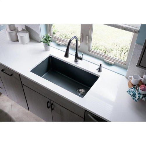 "Elkay Quartz Classic 33"" x 18-3/4"" x 9-1/2"", Single Bowl Undermount Sink, Dusk Gray"
