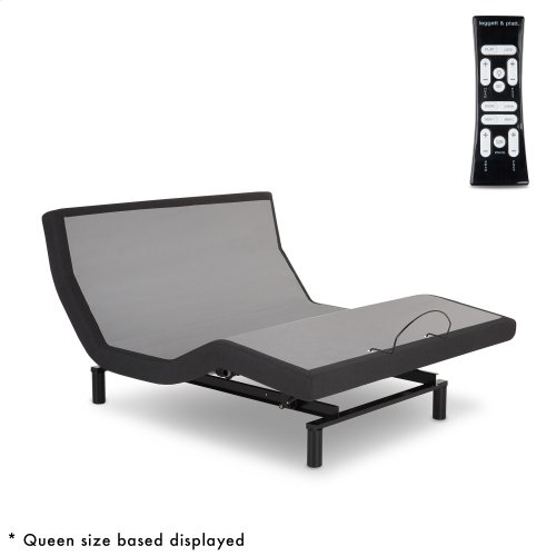 S-Cape 2.0 PT Adjustable Bed Base with Wallhugger Technology and Automatic Pillow Tilt, Charcoal Gray Finish, Full XL