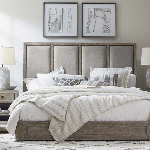 King/Compass Northern Grey Compass II Upholstered Bed