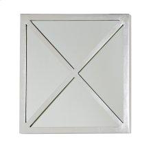 "Square Silver Leaf ""x"" Mirror."