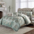 9pc Queen Comforter Set Ice Blue Product Image