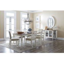 Castle Hill Rectangle Dining Chair With 4 Ladder Back Chais