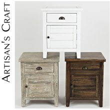 Artisan's Craft Accent Table - Washed Grey
