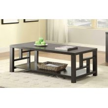 Transitional Cappuccino Coffee Table