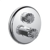 "7097tt-tm - 1/2"" Thermostatic Trim With Volume Control and 2-way Diverter in Polished Chrome"