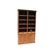 """Traditional Alder 48"""" 2-Door Bookcase"""