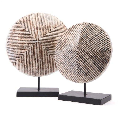 Toba Figurine Lg White & Brown