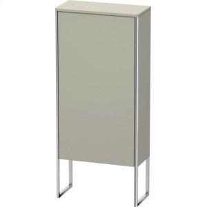 Semi-tall Cabinet Floorstanding, Taupe Satin Matt Lacquer
