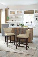 Canidelli - Medium Brown Set Of 2 Dining Room Barstools Product Image