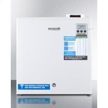 Compact -20 C Vaccine Storage All-freezer With Digital Thermostat, Temperature Alarm, Hospital Grade Cord, Self-closing Door, and Front Lock