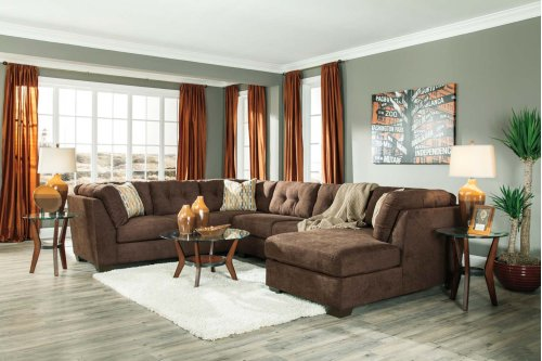 Delta City - Chocolate 3 Piece Sectional