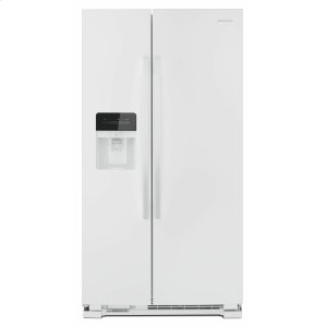 33-inch Side-by-Side Refrigerator with Dual Pad External Ice and Water Dispenser - White - WHITE