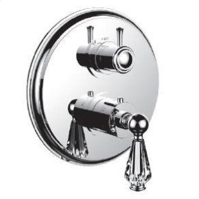 """1/2"""" Thermostatic Trim With Volume Control and 3-way Diverter in Antique Brass"""