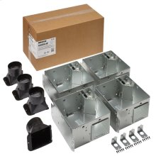 FLEX Series Bathroom Ventilation Fan Light Housing Pack, no Flange