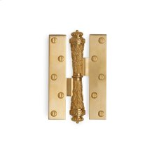 Antique Gold Acanthus Paumelle Hinge