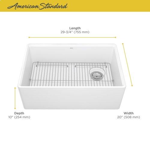Avery 30 x 20 Single Bowl Apron Kitchen Sink  American Standard - Alabaster White