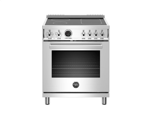 30 inch Induction Range, 4 Heating Zones, Electric Self-Clean Oven Stainless