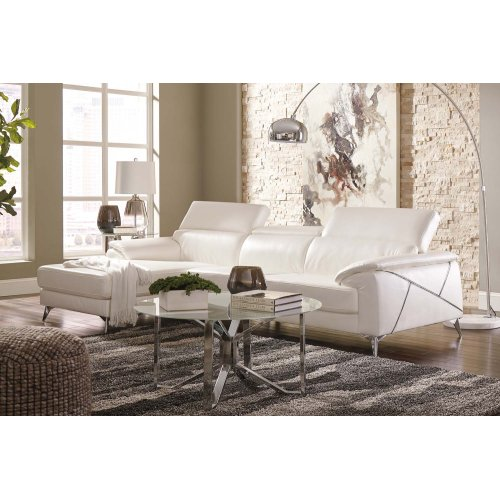 Tindell Sectional White Left