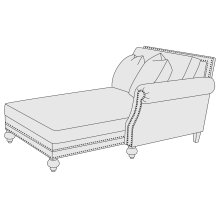 Brae Right Arm Chaise in Mocha (751)