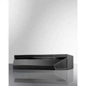 Summit30 Inch Wide ADA Compliant Ductless Range Hood In Black Finish With Remote Wall Switch